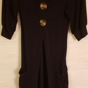 Ginger G Sweaters - Boutique black Tunic Sweater